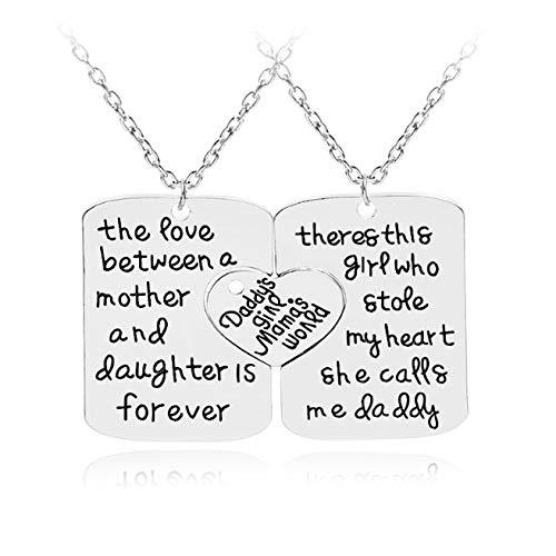 änger Panzerkette Geschenk für Mutter Frauen Halskette Hollow Letter Anhänger Liebe Herzform Anhänger Herzförmige Halskette ()