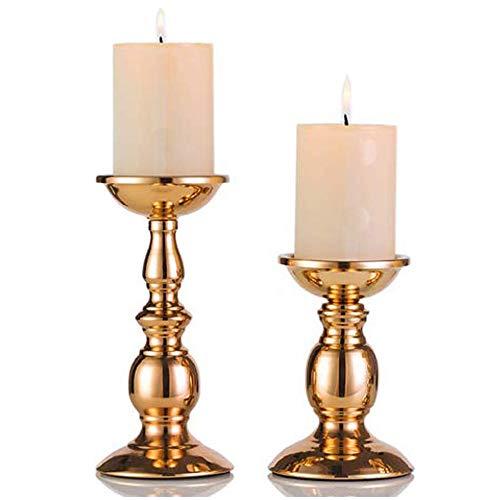 Eisen Säulenständer Kerzenhalter, Tischdekoration Kerzenständer für Hochzeit, Party, Geburtstag, Abendessen bei Kerzenlicht, vintage Kerzenständer Hausdekoration, gold