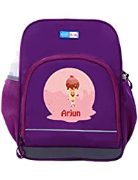 UniQBees Personalised School Bag With Name (Little Life Pre-School Backpack-Purple-Cherry Cone)