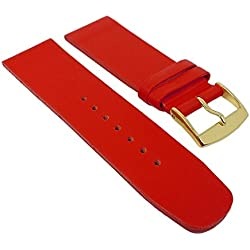 Graf Manufaktur Spree Womens Replacement Watch Strap Leather Band Red 27095G Bridge Width: 26 mm