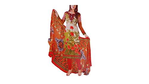 Noor Punjabi Suits Women's Cotton Unstitched Dress Material
