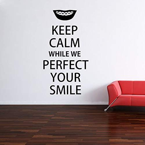 Applikation Bleib ruhig Zahnarzt Zahnpflege Wandtattoo Zahnärzte Büro Wand Fenster Aufkleber Home Removable Kunstwand X cm