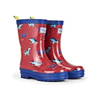 Hatley Wellies Scooting Dinos Red