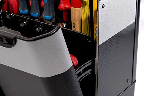 PARAT 2.012.530.981 Evolution Werkzeugkoffer mit genähten Einsteckfächern schwarz/silber (Ohne Inhalt) - 5