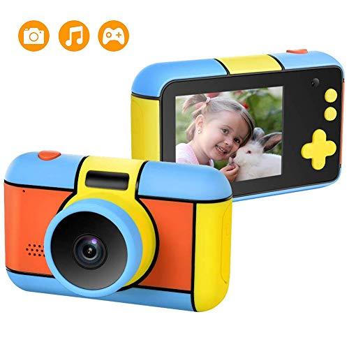 Kinder-Kamera, Wiederaufladbare Kinder Digitalkamera Mit 2,4-Zoll-LCD-24MP 1080P HD Stoß- Digital-Videokamera-Spielzeug-Geschenk Für Jungen, Mädchen, Spielen Im Freien