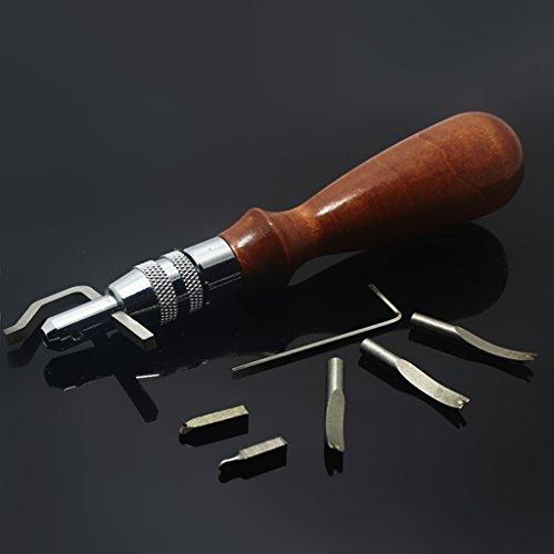 Tioodre 1PCS strumenti artigianali in Bone Folder Notation pieghevole in pelle per pieghe bordi carta fatta a mano per cucire strumenti accessori