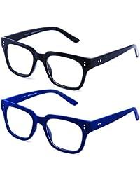 960e8c7734 Newbee Fashion - Clear Frames Nerd Geek Squared Simple Fashion Clear Glasses