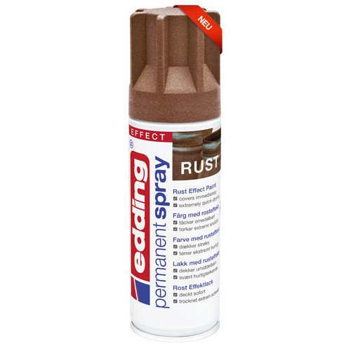 NEU Edding Permanent Spray, 200ml, Rost Effektlack