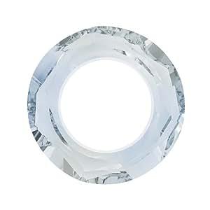 SWAROVSKI ELEMENTS Pendentif en cristal, 4139 Anneau cosmique, 14mm, l'unité, Cristal bleu