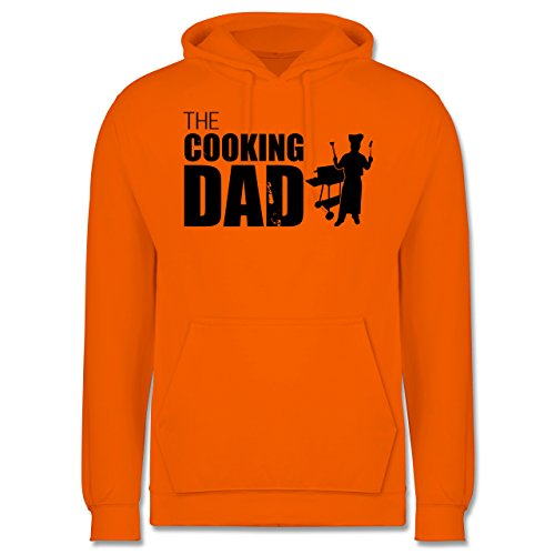 Grill - The cooking Dad - Männer Premium Kapuzenpullover / Hoodie Orange