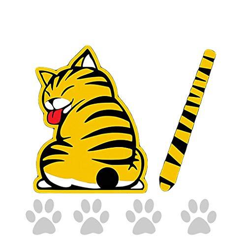 Mengonee Bewegliche Katze-Muster-Auto-hintere Scheibenwischer Aufkleber Self Adhesive Tier Abziehbild-Kunst-Tattoo Dekorative Supplies -