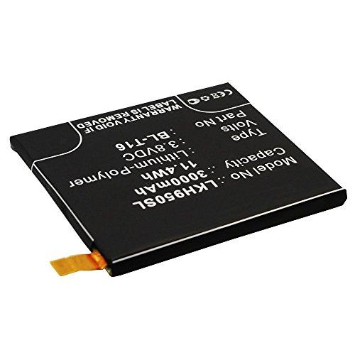 CELLONIC® Batterie premium pour LG G Flex 2 (3000mAh) BL-T16 Batterie de recharge, Accu remplacement