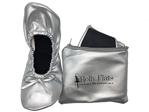 Rolly Flats  Foldable Ballet, Ballet fille femme bébé fille silver