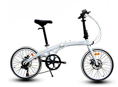 MASLEID 7 vitesses vélo pliant vélo de route vélo , white