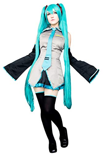 DAZCOS Damen us-größe drucken ärmelschoner miku halloween kostüm mit socken frauen XS grau