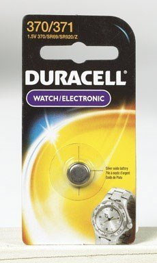 Duracell Watch And Electronic Battery 1.5 V Model No. 370/371 Carded by Duracell Div. Of P & G -