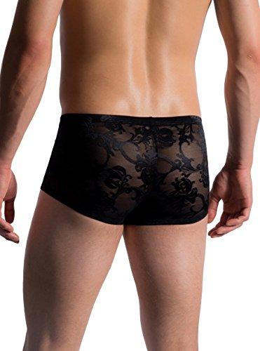 MANSTORE M759 Micro Pants - glänzende, französische Spitze - limitierte Kollektion Black