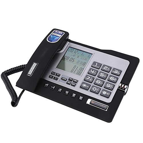 Tangxi Schnurgebundenes Telefon G026, Telefon für Privatgebrauch/Büro,Festnetztelefon mit Freisprecheinrichtung, Anruferkennung, Kurzwahl, Nummernspeicherfunktion(Schwarz) Paging-adapter