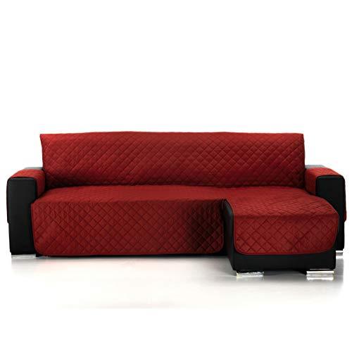 Jarrous Funda Cubre Chaise Longue Acolchada Modelo Pelícano, Color Rojo, Medida 240cm · Brazo Derecho (Mirándolo de Frente)