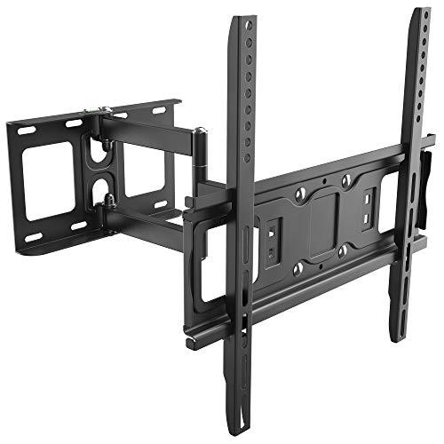 RICOO TV Wandhalterung S5144 Universal für 30-65 Zoll (ca. 76-165cm) Schwenkbar Neigbar | Wand Halter Aufhängung Fernseh Halterung auch für Curved LCD und LED Fernseher | VESA 200x100 400x400 Schwarz
