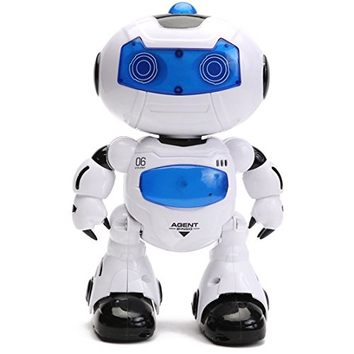 Intelligent & Charismatic Dancing Remote Control Robot with Music and Lights for Children, Disco & Cheering RC Robot , Flasing Eyes and Chest