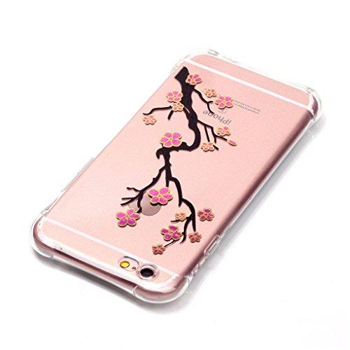 iPhone 6 Plus / 6S Plus Hülle, SATURCASE Schönes Muster Bronzen Ultra Dünn Weich TPU Gel Silikon Schützend Zurück Case Cover Handy Tasche Schutzhülle Handyhülle Hülle für Apple iPhone 6 Plus / 6S Plus Muster-10