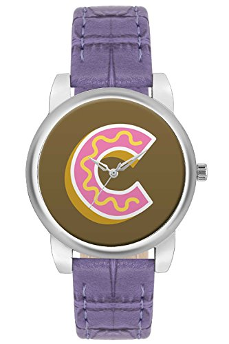 Women's Watch, BigOwl Minimal C Typography Designer Analog Wrist Watch For Women - Gifts for her dials