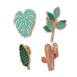 Amarzk Cartoon Kaktus Abzeichen Pins Brosche Set Revers Emaille Nette Patches Für Kleidung Taschen- # E