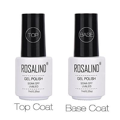 Base Top Coat Nail Polish Gel , Mumustar 2Pcs/Set Nail Top And Base Coat Foundation Sealer Clear High Gloss Soak Off UV Led Nail Lacquers Manicure Pedicure Nail Accessory