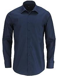 VENTI Slim Fit Hemd extra langer Arm Popeline nachtblau AL 69
