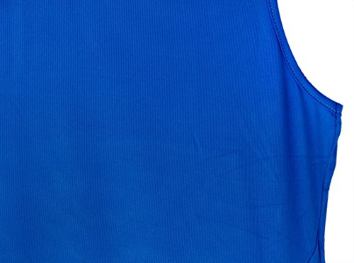 QIYUN.Z Les Femmes Sans Manches À La Traîne En Col Rond Irrégulier Bleu Robe Longue En Jersey Bleu Royal