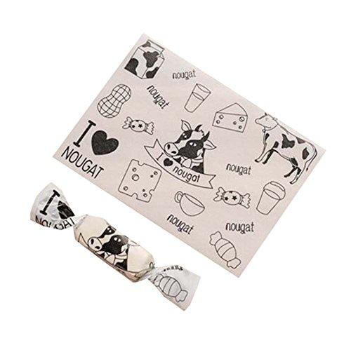 Black Temptation 500 PC-Nugat-Süßigkeits-Verpackungs-Karamell-Verpackungen, die Taschen für alle Parteien, A6 verpacken (Halloween-süßigkeiten Für Parteien Einfache)