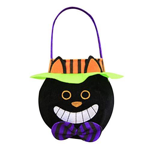 fexgaoo Halloween Süßes oder Saures Kürbis Süßigkeiten Taschen Griff Partei Kostüm Kid (Eimer Halloween Handwerk)