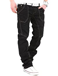 Kosmo Lupo Jeans coutures noires KM017