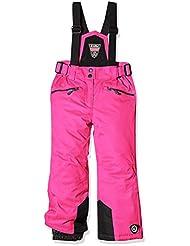 Killtec Pantalón con tirantes y protección Mullet, otoño/invierno, infantil, color neon-pink melange (white melange), tamaño 164