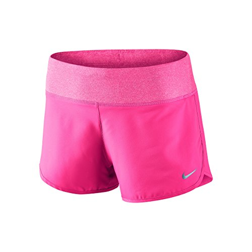 Nike Damen Oberbekleidung 3 Zoll Rival Shorts, Rosa/Silber, M (Mesh-jugend Nike)
