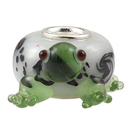 Soulbead animale stile ciondolo in vetro di Murano con argento Sterling 925core Lampwork Perline per 3mm Serpente Catena Braccialetto europea Sea Turtle Glass Charm