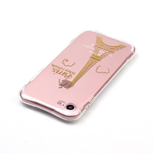 iPhone 7 / iPhone 8 Hülle, SATURCASE Schönes Muster Bronzen Ultra Dünn Weich TPU Gel Silikon Schützend Zurück Case Cover Handy Tasche Schutzhülle Handyhülle Hülle für Apple iPhone 7 / iPhone 8 (Muster Muster-4