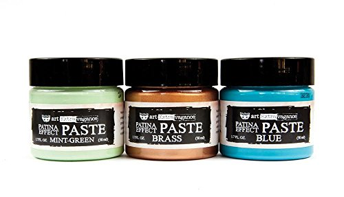 Unbekannt Prima Marketing Patina Effekt Paste, Mint grün, blau, Messing 1,7 FL OZ je