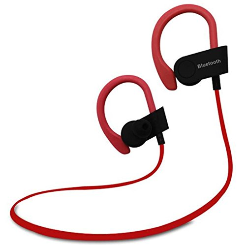 Joyeer Bluetooth Wireless Kopfhörer Stereo Musik Kopfhörer Sport Running Headset in-Ear Noise Reduzierung Ohrhörer mit MIC für Smart Handy , red