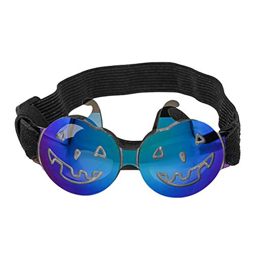 Balacoo haustier brille einstellbare kürbis halloween brille pet kostüm sonnenbrille für hund katze (blau) (Haustiere Tragen Kostüm)