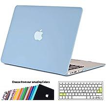 Funda MacBook Air 13 pulgada,iNeseon Ultra Delgado Carcasa Dura Shell Case con Cubierta del Teclado Transparente EU Layout para Apple MacBook Air 13.3 [Modelo:A1466 e A1369](Serenidad Azul)