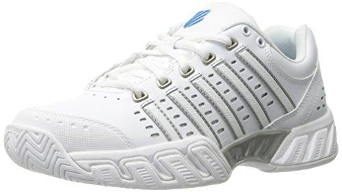 K-Swiss Zapatilla Bigshot Light LTHR Wht/HAWAIIANOCEAN 6 UK Zapatillas, Mujer, Blanco/Azul/Gris,