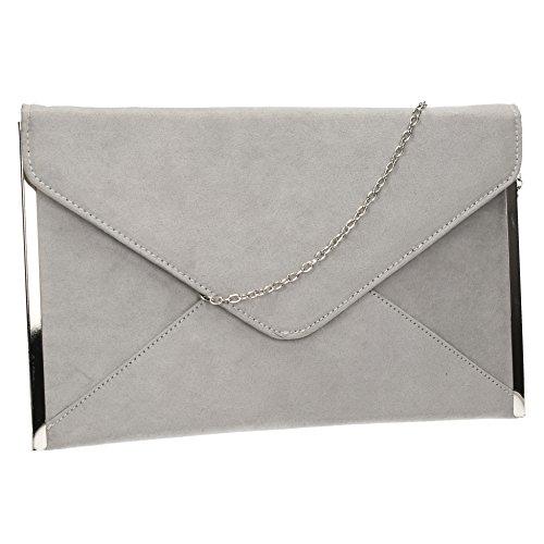 louis-suede-velvet-slim-envelope-womens-party-prom-wedding-clutch-bag-purse-bag-grey
