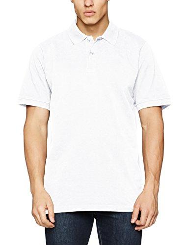 JP 1880, Große Größen Herren Poloshirt Piquee, Weiß (weiss 20), 8XL