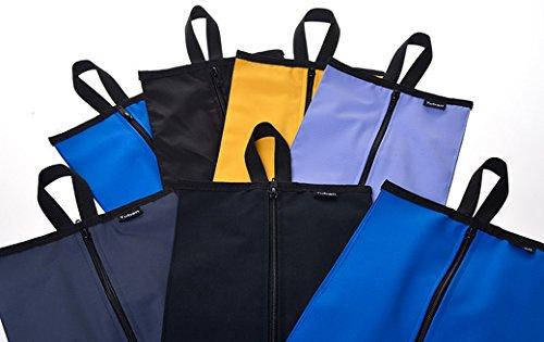 Panegy Unisex Reisetasche Nylon Schuhtasche Wasserdicht Packsäcke Tägliche Artikle Beutel für Reisen Aufbewahrungstasche Schuhbeutel - Farbe/Größe Wählbar Schwarz