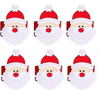 Binchil 8Pcs Anillos De Servilleta De Navidad Soporte De Servilleta Decoración De La Mesa De La Cena Banquete De Fiesta