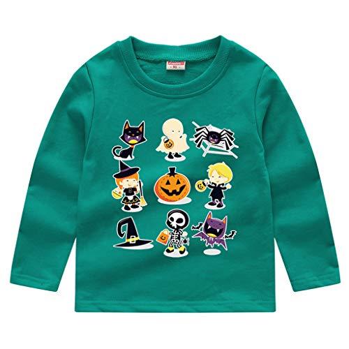 Höhle Kostüm Girl Womens - GJKK Kinder Unisex Halloween Sweatshirt Halloween Kürbis Gedruckt Langarm Sweatshirt Pullover Tops T-Shirt Halloween Kostüm Outfit