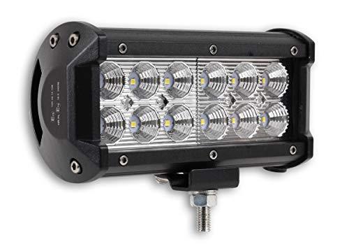 """1x LED-Fernscheinwerfer Scheinwerfer Light Bar 7\"""" 10cm 36 Watt 12x CREE LED Super Hell mit ECE-Zulassung Eintragungsfrei Straßenzulassung"""