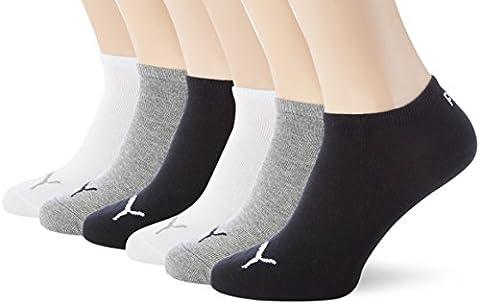 PUMA Unisex Sneakers Socken Sportsocken 6er Pack grey-white-black / grey-white-black 882 - 39/42